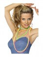 Neon Beads on Model at Fancy Dress and Party
