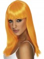 Neon Orange Wig at Fancy Dress and Party