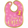 Pink 1st Birthday Bib at Fancy Dress and Party