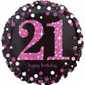 Pink 21st Birthday Balloon at Fancy Dress and Party
