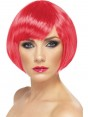 Pink Bob Wig at Fancy Dress and Party