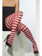 Red and White Striped Tights at Fancy Dress and Party