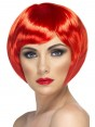 Red Bob Wig at Fancy Dress and Party
