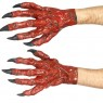 Red Devil Hands at Fancy Dress and Party