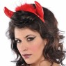 Red Devil Horns Headband at Fancy Dress and Party