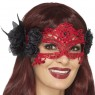 Red Filigree Mask at Fancy Dress and Party