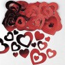 Red Hearts Confetti at Fancy Dress and Party