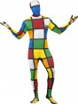 Rubiks Cube Skinsuit Front View at Fancy Dress and Party