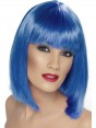 Short Neon Blue Wig at Fancy Dress and Party