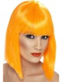 Short Neon Orange Wig at Fancy Dress and Party