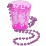 Shot Glass on Beads at Fancy Dress and Party