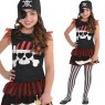 Skull and Crossbone Girls Pirate Dress at Fancy Dress and Party