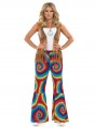 60s Tie Dye Flares at Fancy Dress and Party