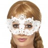 White Floral Lace Eyemask at Fancy Dress and Party