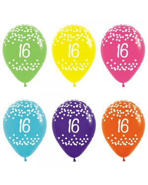 16th Birthday Balloons at Fancy Dress and Party