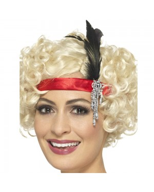 1920s Red Headband at Fancy Dress and Party