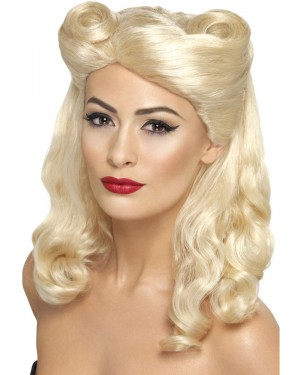 1940s Ladies Blonde Wig at Fancy Dress and Party