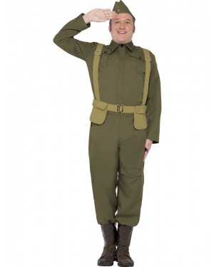 40s Home Guard Costume Front at Fancy Dress and Party