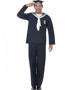 40s Naval Seaman Costume Front at Fancy Dress and Party