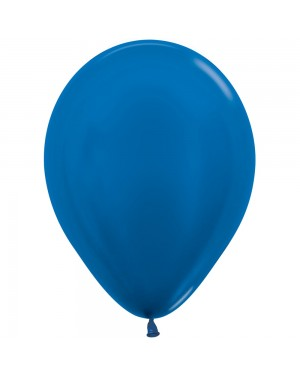 5 Inch Balloons Metallic Blue at Fancy Dress and Party
