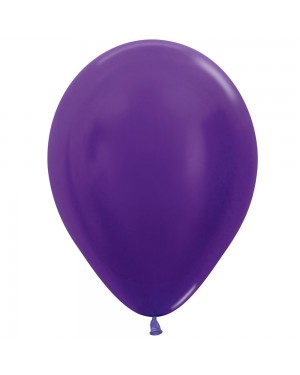 5 Inch Balloons Metallic Violet at Fancy Dress and Party