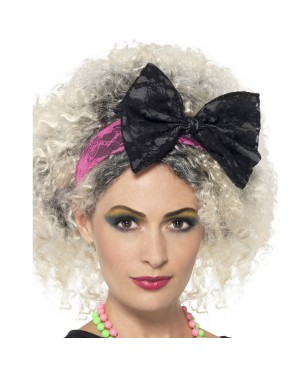 80s Lace Headband at Fancy Dress and Party