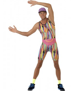 90s Mr Motivator Costume Front at Fancy Dress and Party