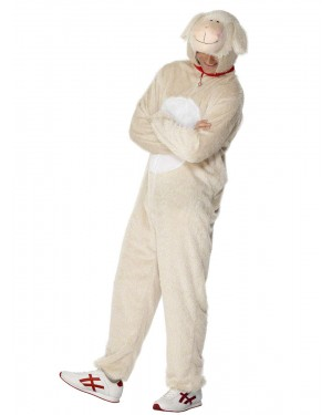 Adult Lamb Costume at Fancy Dress and Party