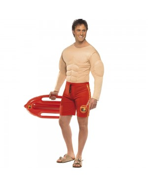 Baywatch Lifeguard Costume Front View at Fancy Dress and Party
