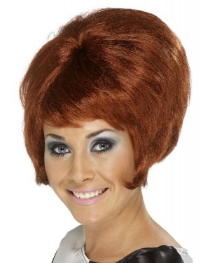 Auburn Beehive Wig at Fancy Dress and Party