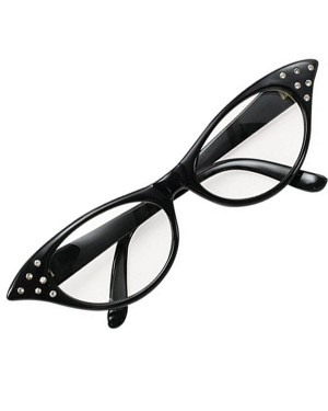 Black 50s Glasses at Fancy Dress and Party