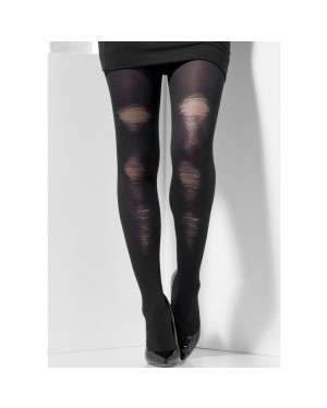 Black Distressed Tights at Fancy Dress and Party