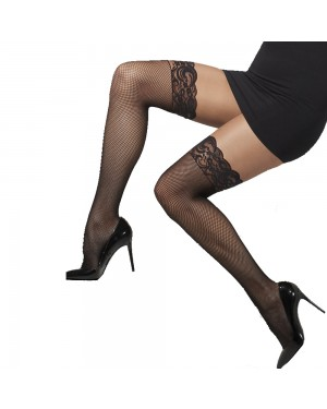 Black Fishnet Hold Ups at Fancy Dress and Party