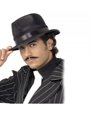 Black Indestructible Fedora Hat at Fancy Dress and Party