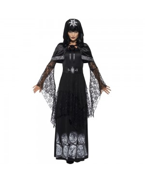 Black Magic Mistress Costume Front View at Fancy Dress and Party