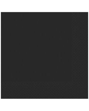 Black Napkins Pack of 50 at Fancy Dress and Party