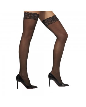 Black Sheer Hold Ups at Fancy Dress and Party