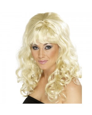 Blonde Beehive Beauty Wig at Fancy Dress and Party