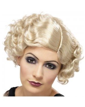 Blonde Flirty Flapper at Fancy Dress and Party