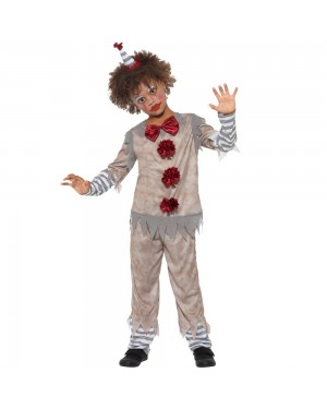 Boys Clown Costume Front View at Fancy Dress and Party