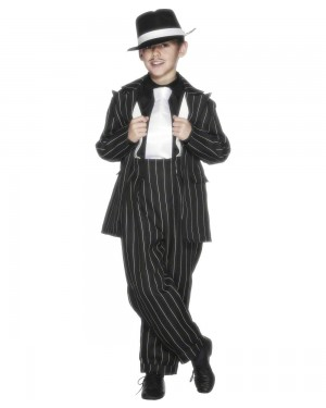 Boys Gangster Suit Costume at Fancy Dress and Party