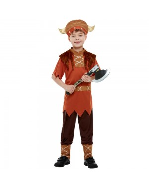Boys Viking Costume Front at Fancy Dress and Party