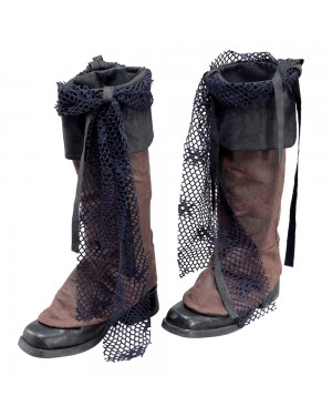 Brown Pirate Boot Covers at Fancy Dress and Party