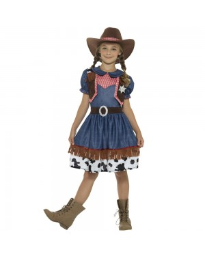 Childs Cowgirl Outfit Front View at Fancy Dress and Party