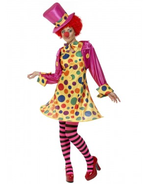Clown Lady Costume at Fancy Dress and Party