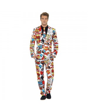 Comic Strip Stand Out Suit Front View at Fancy Dress and Party