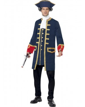 Commander Pirate Costume Front at Fancy Dress and Party
