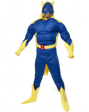Deluxe Bananaman Costume Front View at Fancy Dress and Party