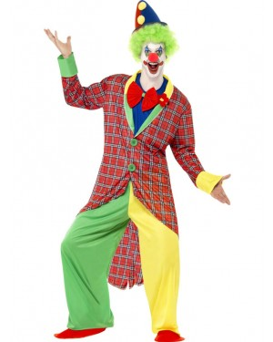 Deluxe Clown Costume Front at Fancy Dress and Party