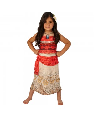 Deluxe Moana Costume Front View at Fancy Dress and Party